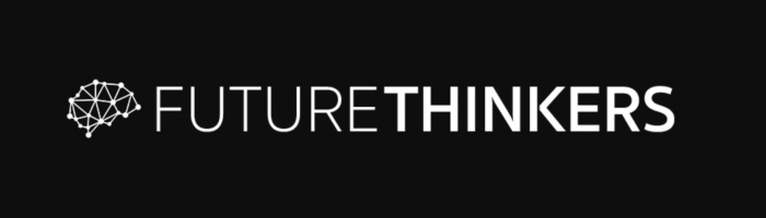 700 by 200 pixel Banner for the Future Thinkers podcast.