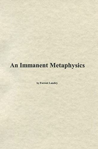 An Immanent Metaphysics
